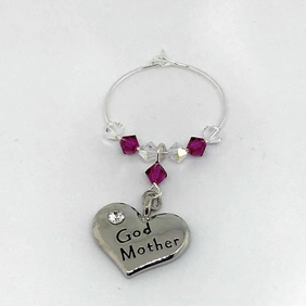 Godmother Wine Glass Charm - Gifts for Her - Birthday Gifts