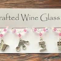 Baking Wine Glass Charms - Stocking Fillers - Christmas Gifts - Cooking