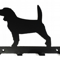 Beagle Silhouette Key Hook Rack - metal wall art