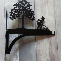 Gardener Working Under Tree Heavy Duty Hanging Basket Bracket