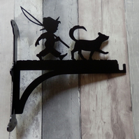 Child with Fishing Rod and Dog Heavy Duty Hanging Basket Bracket