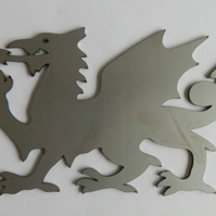 Self Colour Steel Y Ddraig Goch Welsh Dragon Silhouette Fence Gate Weather Vane