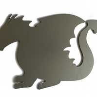 Self Colour Steel Cartoon Dragon Silhouette Fence Gate Weather Vane Decorative