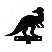 Corythosaurus Dinosaur Silhouette Hook - keys aprons teatowels - metal wall art