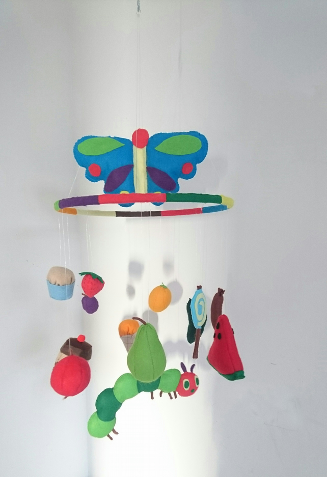 The very hungry caterpillar nursery mobile
