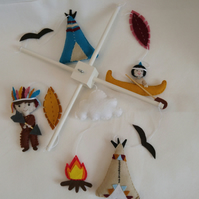 Tribal themed baby mobile