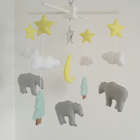 Mountains and bears nursery mobile-made to order