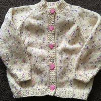 Hand knitted cardigan for 9-12 month old baby girl