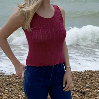 Lacy Tank Top Knitting Pattern (PDF File)