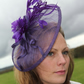 Cadbury Purple fascinator, hatinator