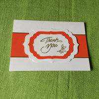 Red Thank you card