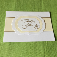 A6 Ivory Thank you card