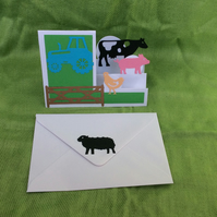 A6 stepper card - animals