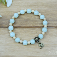 Amazonite Gemstone Aum Bracelet for Healing and Mental Clarity