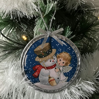 Cute Angel Tree or Wall Hanging Christmas Decorations Double Sided No.5