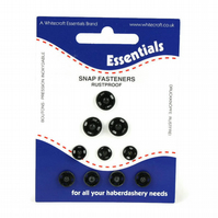 Snap Fasteners Assorted - Black
