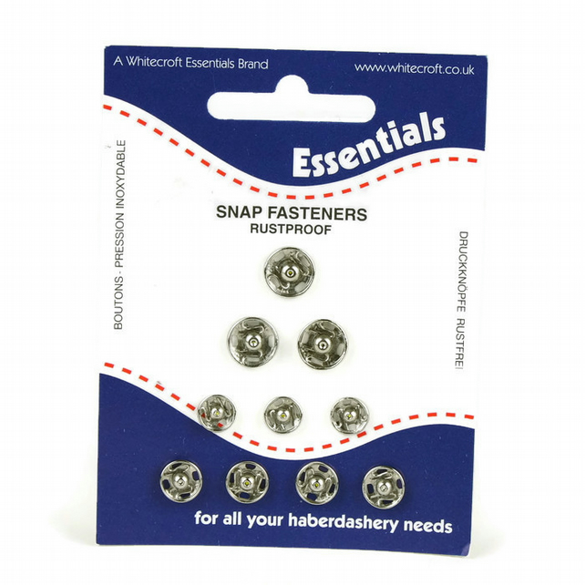 Snap Fasteners Assorted - Silver