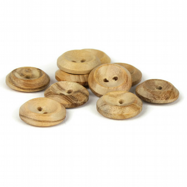 Wooden Button (pack of 5) - size 22 (14mm)