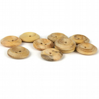 Wooden Button (pack of 5) - size 30 (20mm)