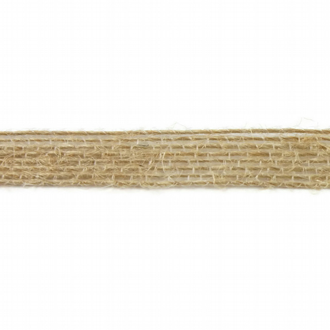 Open Weave Jute Ribbon - Natural - 10mm