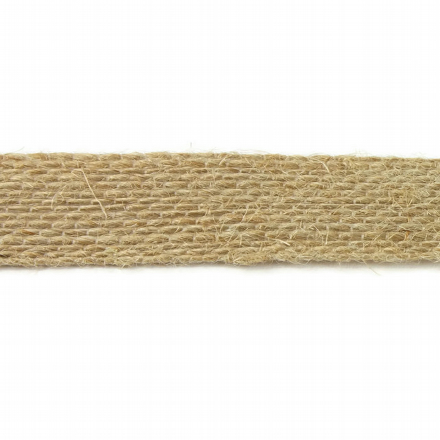 Open Weave Jute Ribbon - Natural - 15mm