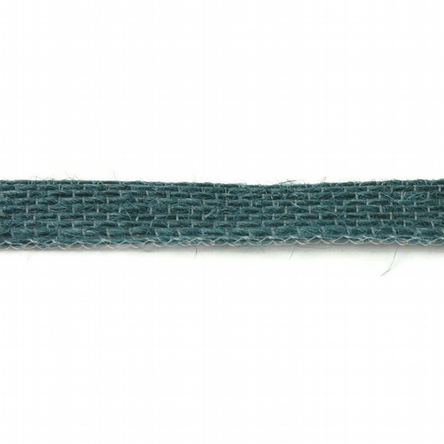 Open Weave Jute Ribbon - Teal - 10mm