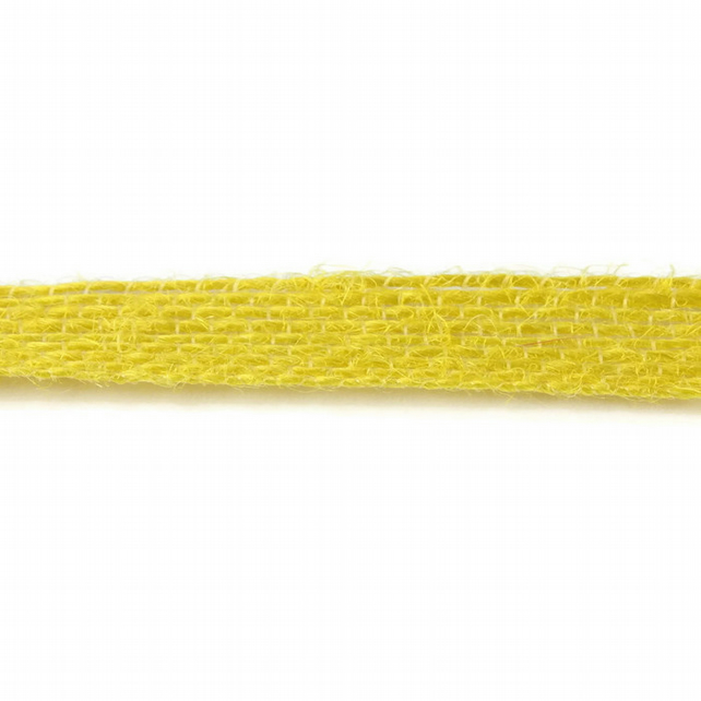 Open Weave Jute Ribbon - Yellow - 10mm