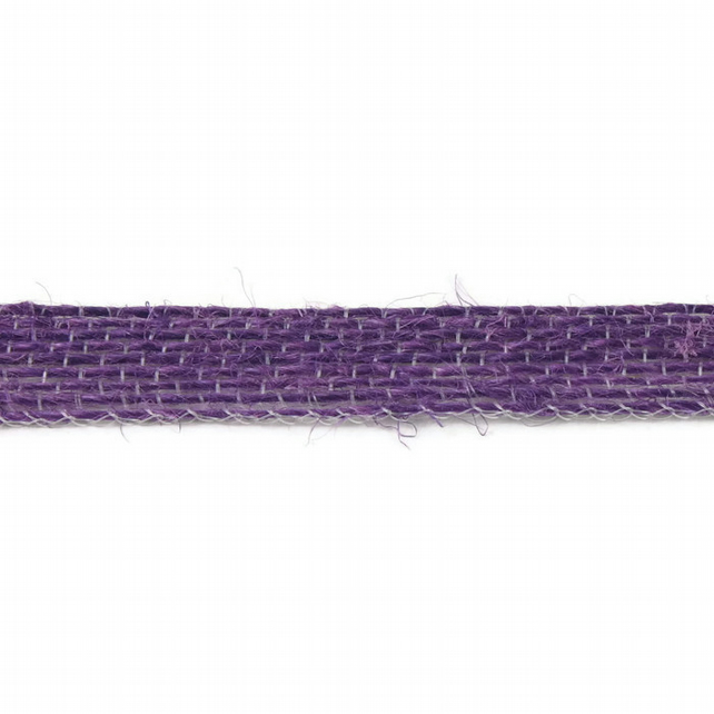 Open Weave Jute Ribbon - Purple - 10mm