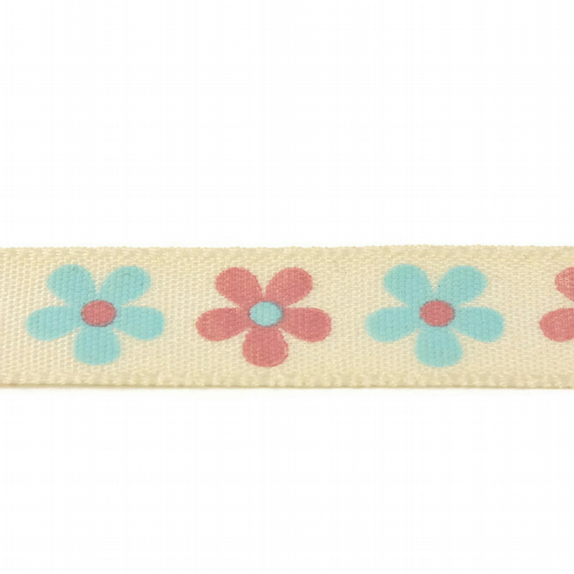 Daisy Ribbon - Natural - 15mm