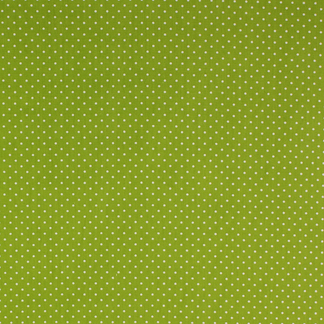 Fabric Freedom - Cotton Poplin - Green with White Spots - Fat Quarter