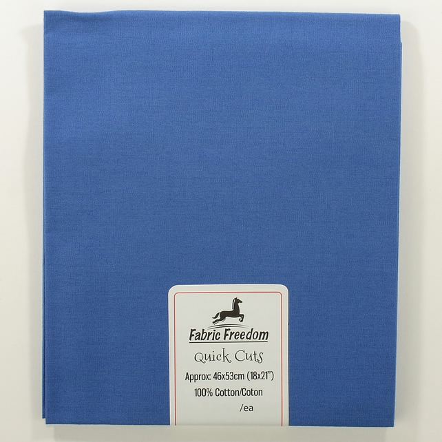 Fabric Freedom - Quick Cuts - Cotton Poplin - Blue - Fat Quarter