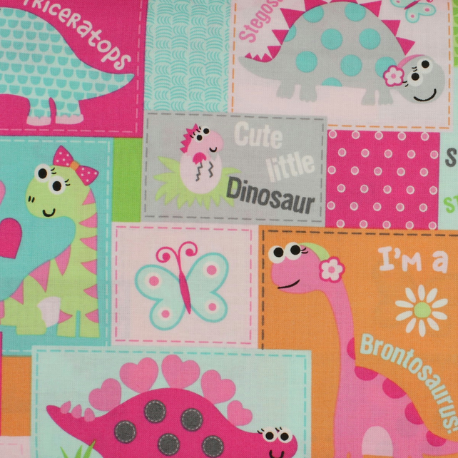 Marcus Fabrics - Girly O Saurus - Blocks - Fat Quarter
