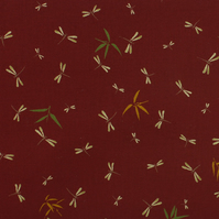 Sevenberry - Dragonflies on Russet - Fat Quarter