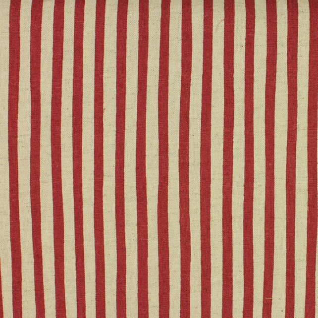 Sevenberry - Linen Mix - Red Stripe - Fat Quarter