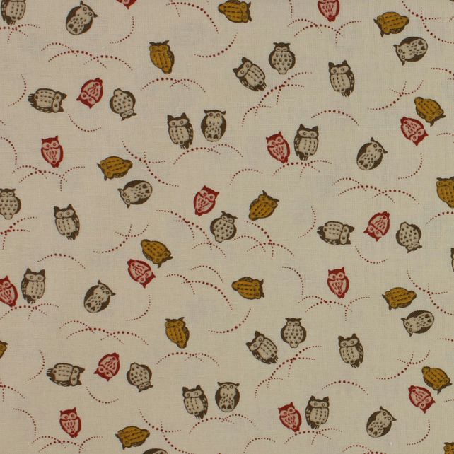 Sevenberry - Owls on Cream - Fat Quarter