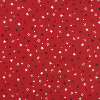 Sevenberry - Stars on Red - Fat Quarter