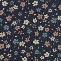Sevenberry - Vintage Flowers on Navy - Fat Quarter