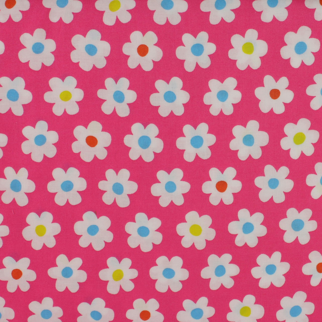 Sevenberry - White Flowers on Pink - Fat Quarter