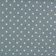 Sevenberry - Linen Mix - Cream spot on Blue - Fat Quarter