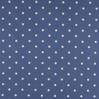 Dotty - Denim - half metre length