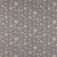 Christmas Snowy - Grey - half metre length