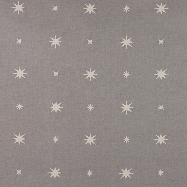 Christmas Starlight - Grey - half metre length