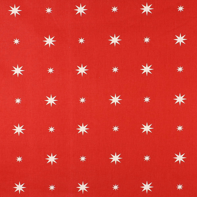 Christmas Starlight - Red - half metre length