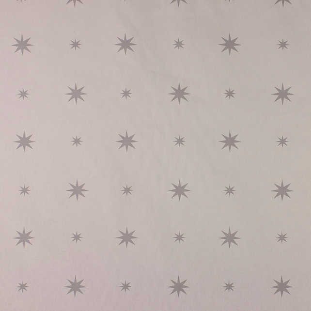 Christmas Starlight - Silver - half metre length