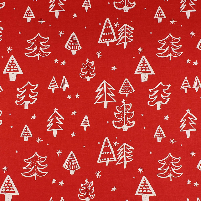 Christmas Tree - Red - half metre length