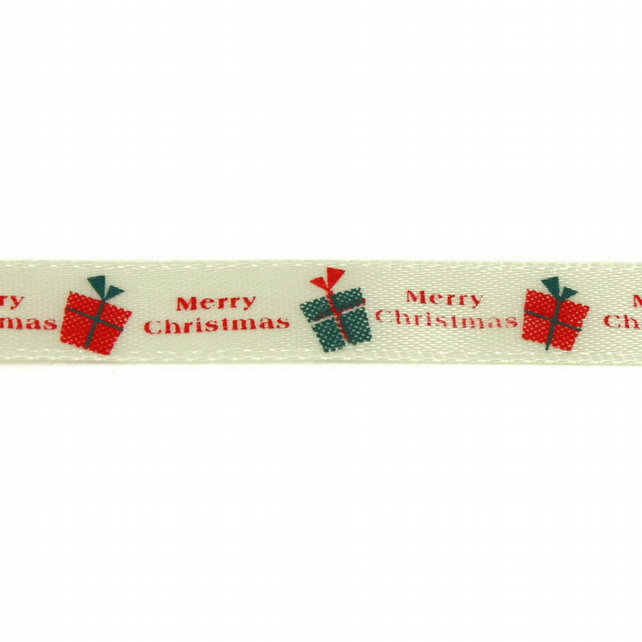 Christmas Ribbon - Merry Christmas Gifts - 10mm