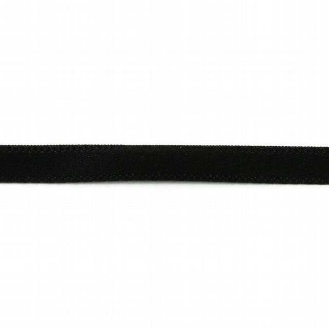 Double Satin Ribbon - Black - 6mm