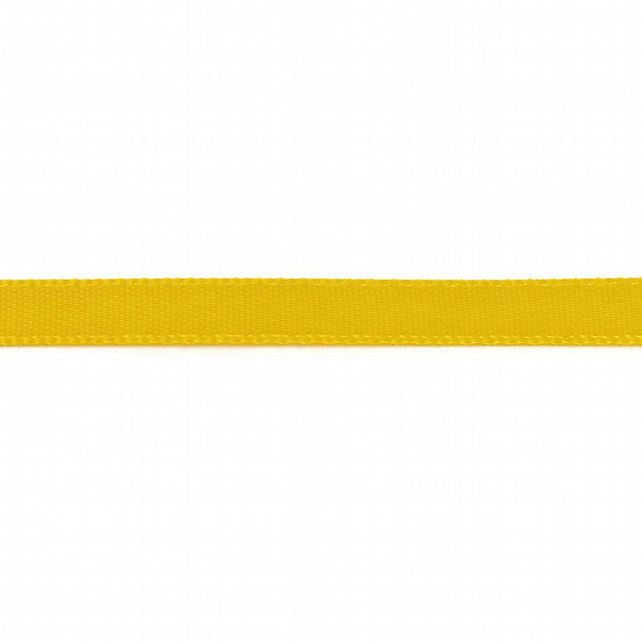 Double Satin Ribbon - Daffodil Yellow - 6mm