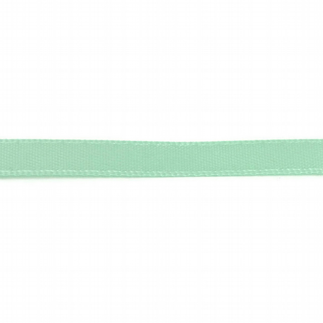 Double Satin Ribbon - Mint Green - 6mm