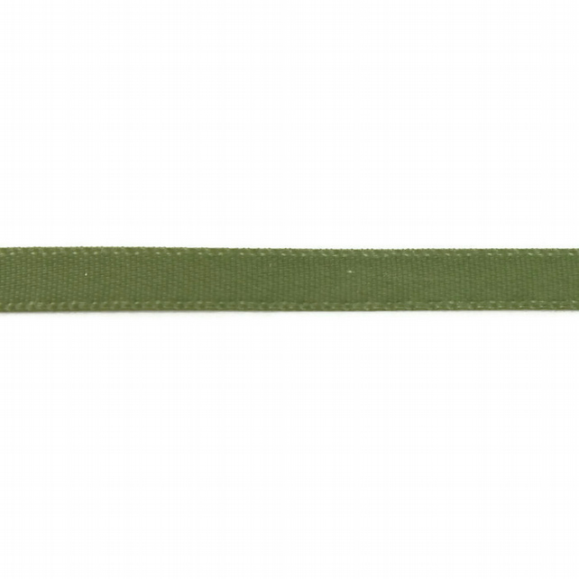 Double Satin Ribbon - Moss Green - 6mm